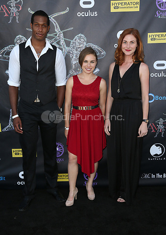 BEVERLY HILLS, CA - April 20: Aubrey Marquez, Erin Breen, Guest, At Artemis Women in Action Film Festival - Opening Night Gala At The Ahrya Fine Arts Theatre In California on April 20, 2017. Credit: FS/MediaPunch