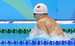 Rio de Janeiro-8/9/2016-James Leroux competes in the men's 100m breaststroke during the swimming finals at the 2016 Paralympic Games in Rio. Photo Scott Grant/Canadian Paralympic Committee