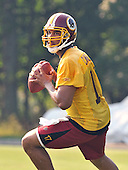 Ashburn, VA - July 20, 2008 -- Quarterback Jason Campbell (17) looks for a receiver during passing drills during the morning practice at the opening day of the 2008 Washington Redskins training camp at Redskins Park in Ashburn Virginia on Sunday, July 20, 2008..Credit: Ron Sachs / CNP