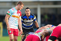 Kahn Fotuali'i of Bath Rugby. Aviva Premiership match, between Bath Rugby and Harlequins on February 18, 2017 at the Recreation Ground in Bath, England. Photo by: Patrick Khachfe / Onside Images