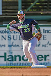 1 September 2014: Vermont Lake Monsters infielder Gabriel Santana in action against the Tri-City ValleyCats at Centennial Field in Burlington, Vermont. The ValleyCats defeated the Lake Monsters 3-2 in NY Penn League play. Mandatory Credit: Ed Wolfstein Photo *** RAW Image File Available ****