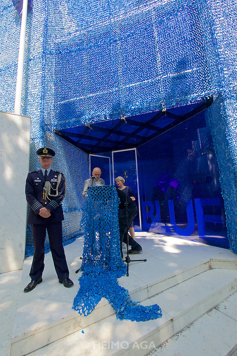Venice, Italy - 15th Architecture Biennale 2016, &quot;Reporting from the Front&quot;.<br /> Giardini.<br /> Opening Ceremony of Netherlands Pavilion.<br /> BLUE: Architecture of U.N. Peacekeeping Missions.