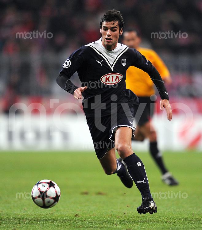 FUSSBALL  International  Champions League  SAISON 2009/2010   03.11.2009 FC Bayern  Muenchen - Girondins Bordeaux Yoann Gourcuff (Bordeaux)