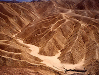 LAND SHAPING BY WIND AND WATER EROSION<br /> Zabriskie Point<br /> Death Valley National Monument, CA