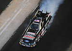 Jan. 20, 2012; Jupiter, FL, USA: Aerial view of NHRA funny car driver John Force during testing at the PRO Winter Warmup at Palm Beach International Raceway. Mandatory Credit: Mark J. Rebilas-