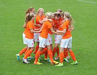 VOETBAL: HEERENVEEN: 20-09-2015, Sportpark Skoatterw&acirc;ld, Itali&euml;-Nederland, Vrouwenvoetbal EK Kwalificatie onder 19 jaar, uitslag 1-1, Pleun Raaijmakers scoorde voor Nederland,<br /> &copy;foto Martin de Jong
