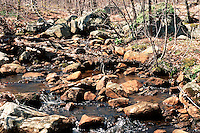 STREAMS<br /> Iron Containing Rocks In Stream<br /> Ringwood State Park, NJ