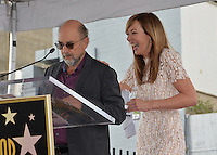 LOS ANGELES, CA. October 17, 2016: Richard Schiff &amp; Allison Janney at the Hollywood Walk of Fame Star ceremony honoring actress Allison Janney.<br /> Picture: Paul Smith/Featureflash/SilverHub 0208 004 5359/ 07711 972644 Editors@silverhubmedia.com