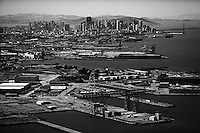 aerial photograph Hunters Point San Francisco, California