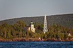 Copper Harbor Lighthouse from Lake Superior lighthouses in the Upper Peninsula of Michigan
