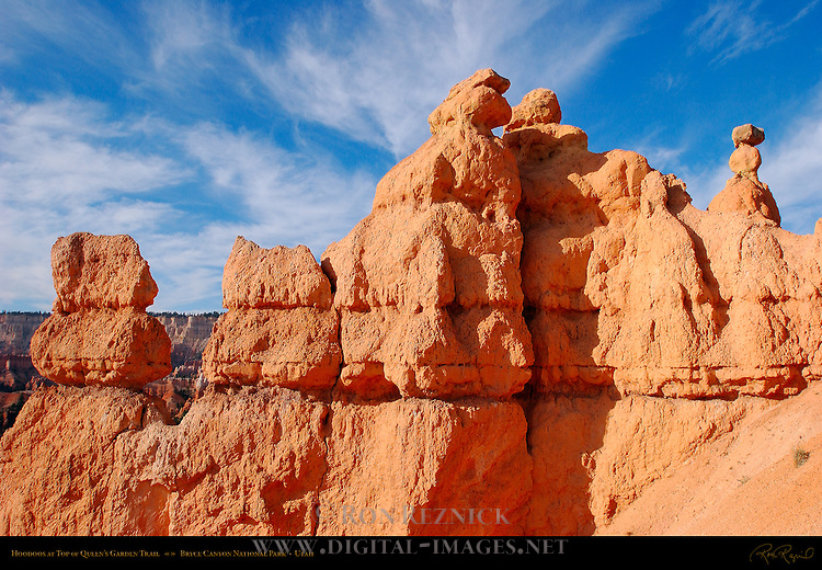 Hoodoos at top of Queen's Garden Trail, Bryce Canyon National Park, Utah