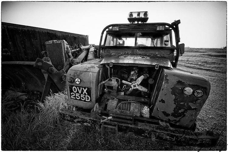 Abandoned Landrover at Dungeness, Kent