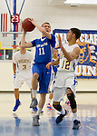 LAHS Boys Varsity basketball at Santa Clara HS, January 11, 2013.  LAHS wins 55-50...11 Nate Becker..