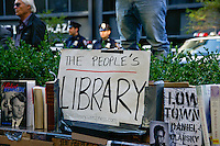 The People's Library at the Occupy Wall Street Protest in New York City October 6, 2011.