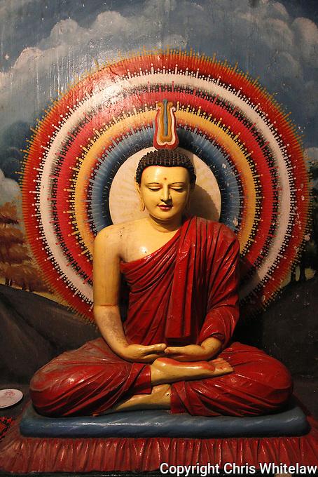 Seated Buddha (meditative pose), Weherahena Temple, Matara, Sri Lanka