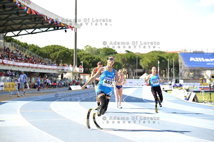 Versace Giuseppina (ITA) 2° classificata 200mt t44 during the European athletics paralympic championships June 13, 2016 in Grosseto, Italy. Photo: Fortunato-DiLoreto/BuenaVista*photo