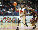 "Ole Miss' Jarvis Summers (32) vs. Arkansas Little Rock's Josh Hagins (3) at the C.M. ""Tad"" Smith Coliseum in Oxford, Miss. on Friday, November 16, 2012. Ole Miss won 92-52."