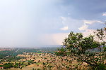 Rain Moving Across The Plain, View From Phnom Sampeau Pagoda