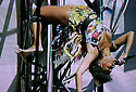 Glastonbury Festival on the BBC. The Noisettes - Shingai Shoniwa.