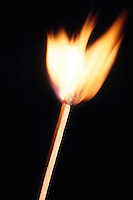 BURNING MATCH<br /> Burning Match Stick After Striking.