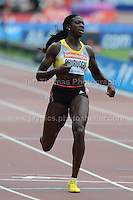 Christine Ohuruogu of Great Britain wins the Womens 400m race at the Sainsbury Anniversary Games, Olympic Stadium, London England, Saturday 27th July 2013-Copyright owned by Jeff Thomas Photography-www.jaypics.photoshelter.com-07837 386244. No pictures must be copied or downloaded without the authorisation of the copyright owner.