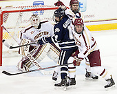 Brian Billett (BC - 1), Maxim Gaudreault (UNH - 14), Isaac MacLeod (BC - 7), Bill Arnold (BC - 24) - The Boston College Eagles defeated the visiting University of New Hampshire Wildcats 6-2 on Friday, December 6, 2013, at Kelley Rink in Conte Forum in Chestnut Hill, Massachusetts.