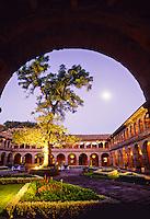 Main courtyard, Hotel Monasterio, Cuzco, Peru
