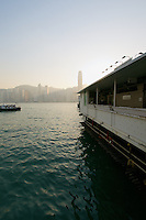 Hong Kong island waterfront seen from the Star Ferry termnal, Kowloon