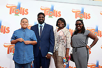 WESTWOOD, CA - OCTOBER 23: Malcolm Funches, Ron Funches, guests at the premiere Of 20th Century Fox's 'Trolls' at Regency Village Theatre on October 23, 2016 in Westwood, California. Credit: David Edwards/MediaPunch