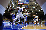 21 December 2014: Duke's Amber Henson (30) guards an inbounds pass. The Duke University Blue Devils hosted the University of Kentucky Wildcats at Cameron Indoor Stadium in Durham, North Carolina in a 2014-15 NCAA Division I Women's Basketball game. Duke won the game 89-68.