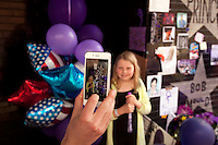 At the memorial for Prince at First Ave in Minneapolis in 2016.