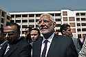 Egyptian Islamist presidential candidate Dr. Abdel Moneim Aboul Fotouh exits a polling station in the Nasr City district after casting his vote in the historic democratic presidential election May 23, 2012 in Cairo Egypt. Fotouh, a former member of the Muslim Brotherhood, is expected to be one of the front-running candidates during the two day election. (Photo by Scott Nelson)