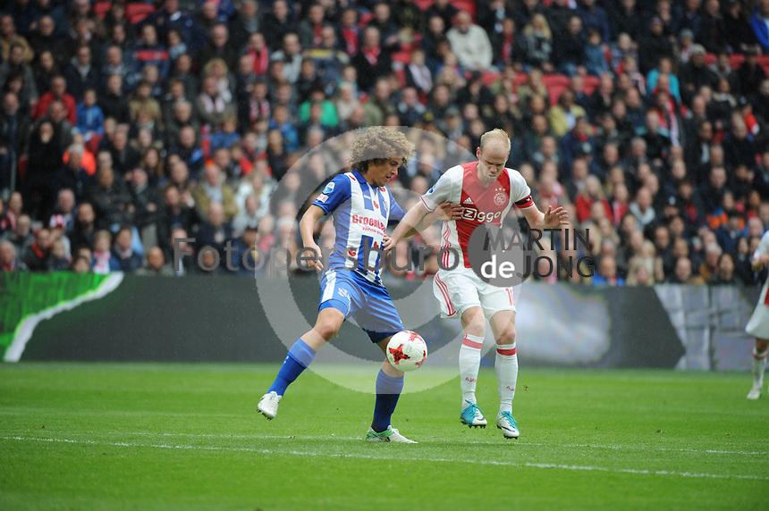 VOETBAL: AMSTERDAM: 16-04-2017, AJAX - SC Heerenveen, uitslag 5 - 1, Wout Faes in duel met Davy Klaassen, ©foto Martin de Jong