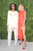 NEW YORK, NY - NOVEMBER 07: Kelly Rowland and Hailey Baldwin attends 13th Annual CFDA/Vogue Fashion Fund Awards at Spring Studios on November 7, 2016 in New York City. Photo by John Palmer/ MediaPunch