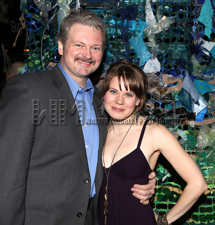 John Ellison Conlee & Celia Keenan-Bolger.attending the opening Night After Party for 'Peter and the Starcatcher' at Phebe's  in New York City.