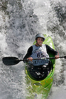 THOMSON Dylan (New Zealand). Kayak downhill race in the Brandseth river. The Extremesport Week, Ekstremsportveko, is the worlds largest gathering of adrenalin junkies. In the small town of Voss enthusiasts in a varitety of extreme sports come togheter every summer to compete and play. Norway.  ©Fredrik Naumann/Felix Features.