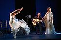 Sadler's Wells presents Esperanza Fernandez in DE LO JONDO Y VERDADERO, as part of the Flamenco Festival London 2016. Picture shows: Ana Morales, Miguel Angel Cortes, Marina Heredia