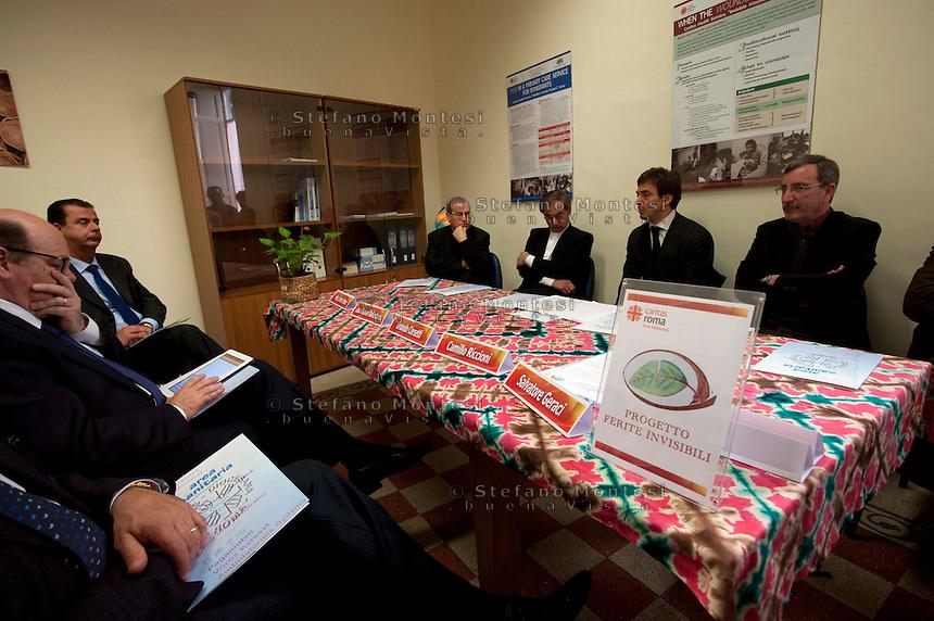 Roma 27  Marzo 2012.Inaugurata la nuova sede del Progetto 'Ferite Invisibili' della Carita diocesana di Roma.Il progetto si occupa di immigrati e rifugiati vittime di violenza intenzionale e di tortura.