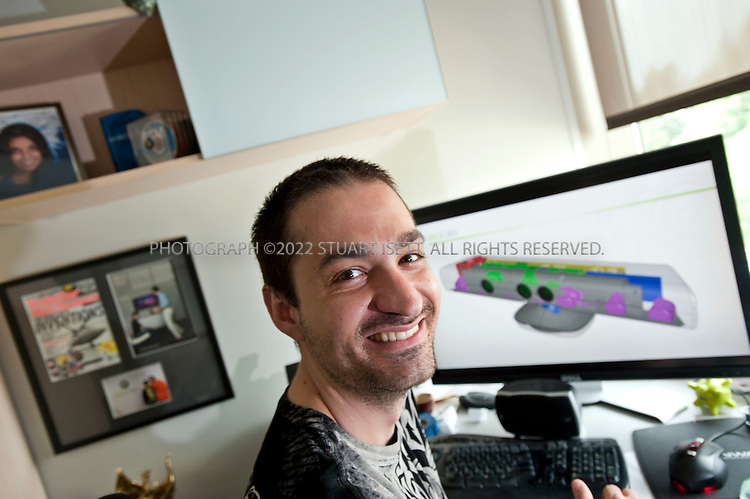 "7/11/2010--REDMOND, WA, USA..Alex Kipman, Microsoft's director of innovation for Xbox 360, in his office on Microsoft's campus near Seattle, WAS. ..Kinect for Xbox which  consists of a depth sensor that uses infrared signals to create a digital 3-D model of a player's body as it moves, a video camera that can pick up fine details such as facial expressions, and a microphone that can identify and locate individual voices. Kinect for Xbox 360, or simply Kinect was originally known by the code name Project Natal...Kinect was first announced on June 1, 2009 at E3 2009 under the code name ""Project Natal"". Following in Microsoft's tradition of using cities as code names, ""Project Natal"" was named after the Brazilian city of Natal as a tribute to the country by Microsoft director Alex Kipman, who incubated the project, and who originates from Brazil...©2010 Stuart Isett. All rights reserved."