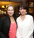 Edie Falco and Beth Leavel attend the The Robert Whitehead Award presented to Mike Isaacson at Sardi's on May 10, 2017 in New York City.