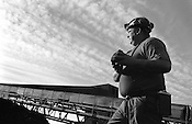 GEORGE LANG AT LONGANNET COLLIERY, SCOTLAND, APRIL, 2001. George's father and grandfather were also coal miners.