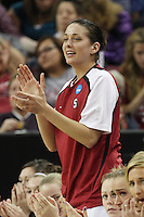 SACRAMENTO, CA - MARCH 27:  Michelle Harrison of the Stanford Cardinal during Stanford's 73-36 win over Georgia in the third round of the NCAA Women's Basketball Championships on March 27, 2010 at Arco Arena in Sacramento, California.
