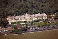 aerial view above Culinary Institute of America St. Helena Napa County California