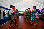 Caulfields dance in the tent at the Caulfield home  in Granlahan, County Roscommon, Ireland on Tuesday, June 25th 2013. (Photo by Brian Garfinkel)
