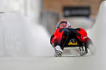 7 February 2009: Wolfgang Kindl slides for Austria in the Men's Competition at the 41st FIL Luge World Championships, in Lake Placid, New York, USA. .  .Mandatory Photo Credit: Ed Wolfstein Photo