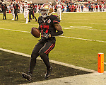 San Francisco 49ers wide receiver Jeremy Kerley (17) makes touchdown on Thursday, October 06, 2016 at Levis Stadium in Santa Clara, California. The Cardinals defeated the 49ers 33-21.