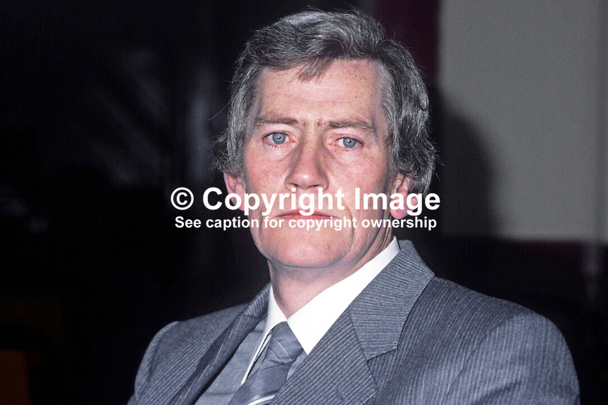 Seamus Mallon, deputy leader, SDLP, Social Democratic &amp; Labour Party, N Ireland, 198011000401a.<br />