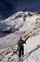Another day at the office, backcountry skiing Mt Rainier