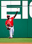 6 June 2010: Washington Nationals' outfielder Nyjer Morgan in action against the Cincinnati Reds at Nationals Park in Washington, DC. The Reds edged out the Nationals 5-4 in a ten inning game. Mandatory Credit: Ed Wolfstein Photo