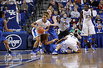 UK guard Bernisha Pinkett steals the ball during the second half of the women's basketball game v. Depaul University in Rupp Arena in Lexington, Ky., on Sunday, December 7, 2012. Photo by Genevieve Adams | Staff